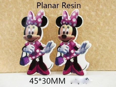 5 x 30mm NEW MINNIE MOUSE LASER CUT FLAT BACK RESIN HEADBAND BOW CARD MAKING